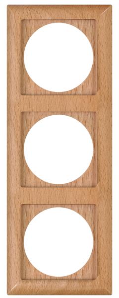 Ramka 3-krotna Drewniana Buk z serii PERŁA