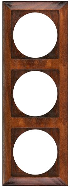 Ramka 3-krotna Drewniana Teak z serii PERŁA